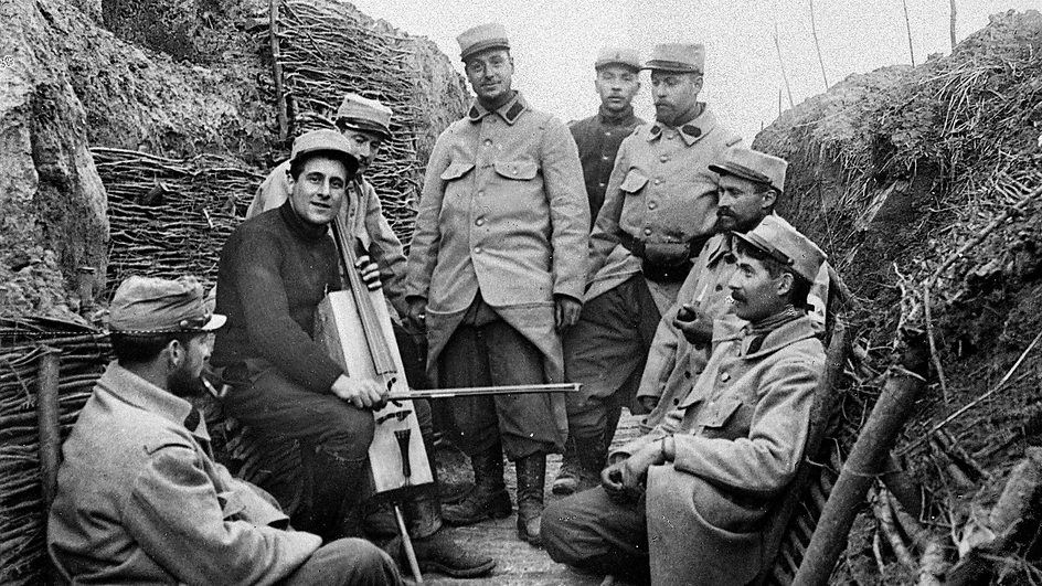 Great war music in the trenches