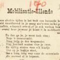 Meer liedjes over de Eerste Wereldoorlog – <em>Mobilisatie-ellende</em>