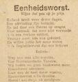 Meer liedjes over de Eerste Wereldoorlog - <em>Eenheidsworst</em>