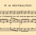 Meer liedjes over de Eerste Wereldoorlog - <em>Neutraliteit</em>